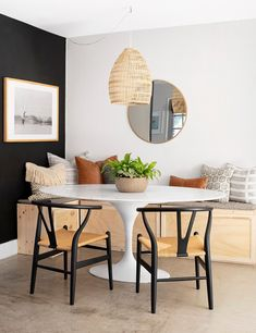 These Scandinavian-style rooms demonstrate how to master this cozy, minimalist look with style. #minimalist #scandinaviandecor #modernhomedecor #bhg Scandinavian Interior Design, Scandinavian Design, Mid Century Modern Dining Room, Ikea Vanity, Dining Room Storage, Small Condo, Black Walls, Apartment Living, Decor Styles