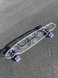 Swirl Ghost Board – Ghost Long Board Big Boys, Purple, Blue, Skate, Emerald, Sapphire, Turquoise, Orange, Board