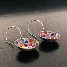 long-colour-pop-earrings-do Silver Jewellery, Sterling Silver Jewelry, Silver Earrings, Drop Earrings, Colour Pop, Color, Happy Vibes, Jewelry Design, Unique Jewelry