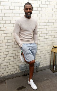 45cbc999b2a2 How to look stylish when you re a mid-life man with middle-age spread.  Black Men Summer StyleOlder Mens Summer FashionShort ...