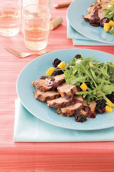 Spicy Grilled Pork Tenderloin With Blackberry Sauce - Fresh Berry ...