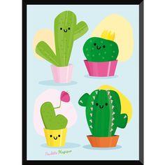 Affichette cactus shop poulette magique