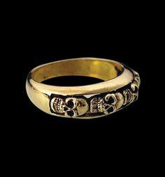 Bronze 4 Skull Ring from Jax Biker Jewellery by DaWanda.com