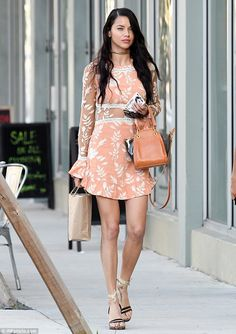She's an Angel! Adriana Lima looked heavenly when she stepped out for a bit of shopping in Miami on Sunday afternoon