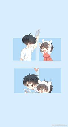 Love Never Fails Manga Cute Couple Cartoon, Chibi Couple, Cute Couple Art, Anime Love Couple, Kawaii Chibi, Cute Chibi, Anime Chibi, Kawaii Anime, Manga Anime