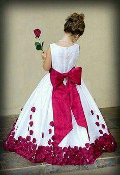 Fuschia rose petals