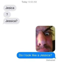 When you get a wrong number text, haha