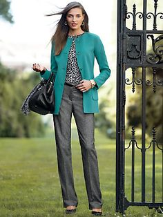 Long-Double Faced Jacket and Tweed Pants