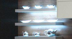 Aluminium Illuminated Box Shelves | Kitchen Lighting | Tesco Kitchens