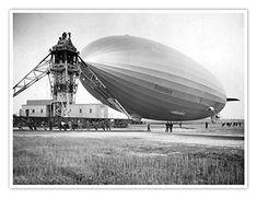 1936 Hindenburg Blimp Lakehurst PHOTO New Jersey, Airship Zeppelin Diorama, Berlin Olympics, Granite City, Led Zeppelin, Historical Photos, New Jersey, Vintage Photos, Aviation, Aircraft
