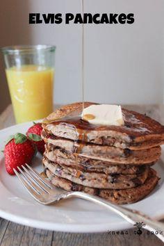 Healthy Elvis Vegan and Gluten Free Pancakes | Knead to Cook