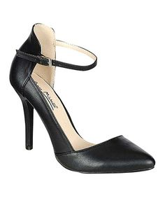 Look what I found on #zulily! Black Ankle Strap Momentum Pump by Bamboo #zulilyfinds