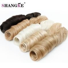 SHANGKE HAIR 24 Long Wavy 5 Clip In Hair Extensions Pure Color Wavy Heat Resistant Synthetic. Click visit to buy #SyntheticExtensions