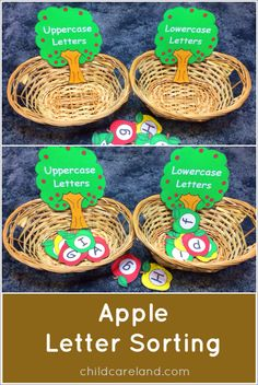 Child Care Land has a FREE Apple themed Letter Sorting Printable. Print it, and then laminate it and have fun sorting and learning. N
