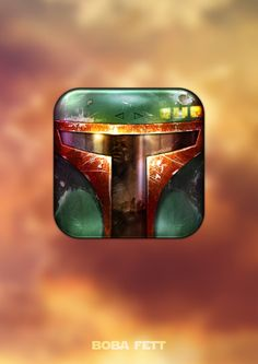 Star Wars iOS icon collection by Michael Flarup - Boba Fett