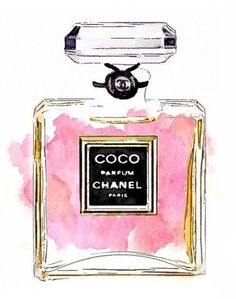 BIG SIZE Chanel Perfume Print from Watercolor by LAscandal on Etsy: