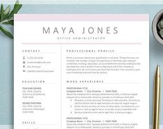 Resume Template 3 Page CV Template Cover Letter / Instant | Etsy Cv Cover Letter, Cover Letter Template, Letter Templates, Resume Template Free, Free Resume, Architecture Portfolio Layout, Great Resumes, Create A Resume, Job Employment