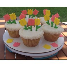Mother's Day Tulip Cupcakes So Beautiful!! Thank You!!