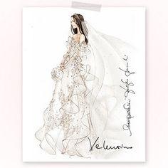 Fabulous Doodles-Fashion Illustration Blog-by Brooke Hagel: Bridal Illustrations: Kate Middleton