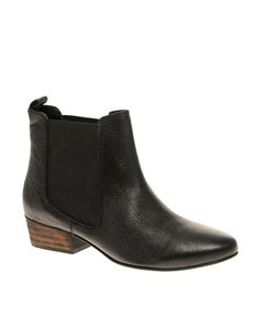 asos andre leather chelsea ankle boot $78.57