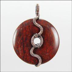 Snake Wrapped Donut Pendant Tutorial by GailaviraTutorials on Etsy, $5.00
