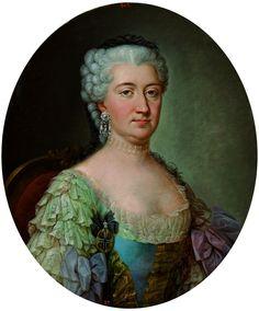 Portrait of Konstancja Poniatowska née Czartoryska by workshop of Marcello Bacciarelli, after 1778 (PD-art/old), Muzeum Łazienki Królewskie (MLK), from the Royal Bedroom in the Palace on the Water