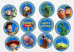 Toy Story Cupcake Toppers by FuntasticParties on Etsy, $3.50
