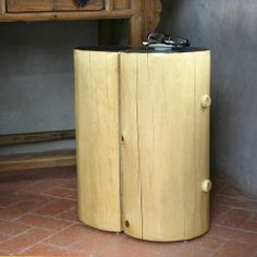 Rebekah Drink Table - This elegant side table is handmade in New Mexico, USA using traditional wood beam construction found in adobe homes, while the contrasting wood finishes and minimal lines update it with a modern twist. 18 x 12 x 22 H inches, Free Delivery!