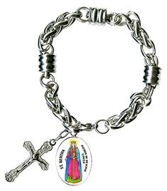 Archangel Sandalphon Gift of Music Charm Cross Stainless Steel 7 to 8 Bracelet *** Check this awesome product by going to the link at the image. (This is an affiliate link) Archangel Sandalphon, Archangel Jophiel, Religious Jewelry, St Michael, Our Lady, Jewelry Bracelets, Women's Jewelry, Jewelry Trends, Link Bracelets