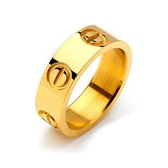Screw Design Ring - Gold - List price: $29.99 Price: $19.99 Saving: $10.00 (33%)
