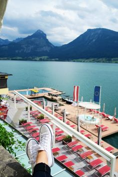 the dreamiest Austrian lakeside hotel | Im Weissen Rossl, st Wolfgang, Austria | outdoor pool in lake | beautiful places in Europe to visit in summer