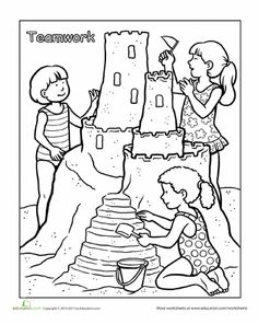 Considerate and caring worksheet twisty noodle girl for Considerate and caring coloring page