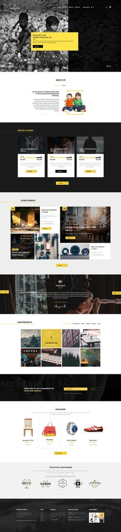 Helping Hands is beautifully design 3 in 1 #PSD #Template for Multipurpose Non-profit #organizations website. Download Now!