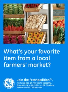 What's your favorite item from a local farmers' market? sweet corn #GEfreshMI