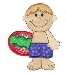 Beach Boy Applique - 4 Sizes! | Beach/Ocean | Machine Embroidery Designs | SWAKembroidery.com Designs by Juju