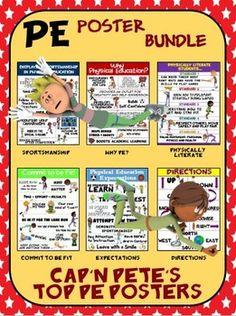 PE Poster Bundle: I Can Statements; High School Version- 5 Std ...