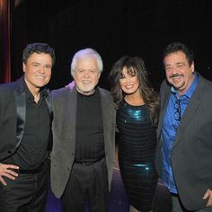 """Our brothers Merrill and Jay came to the show last night. Even though I perform """"Crazy Horses"""" every night, they were the two original voices on that hit record. It's always a great time when the family gets together. Donny Osmond, Marie Osmond, Merrill Osmond, Osmond Family, The Osmonds, Family Get Together, Families Are Forever, Hyde, Puppy Love"""