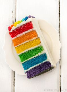 Rainbow Cake with Jelly Beans by raspberri cupcakes, via Flickr