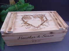 Wine Box for Rustic Wedding by willowroaddesigns on Etsy Wine Box Ceremony, Grape Vines, Rustic Weddings, Engagement Ideas, Wedding Ideas, Etsy, Future, Awesome, Future Tense