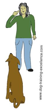 Dog Training Hand Signals - Eye contact: hand from resting position on your side moves (with pointing finger) to your eyes. Deaf Dog Training, Dog Clicker Training, Dog Training Tools, Leash Training, Puppy Training Tips, Stop Puppy Barking, Dog Sign Language, Pet Sitting Services, Dog Commands