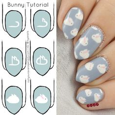 Quick little #pictorial so that you too can have cute little bunnies on your nails!  Hope you all have a lovely #Easter tomorrow!