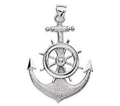 Captains--treat your first mate to this two-dimensional sterling silver pendant.