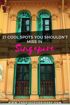 21 cool things to do in Singapore. A Singapore travel guide on what to see, where to eat, where to shop and drink on your trip.
