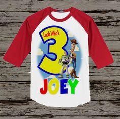 Toy Story Birthday Shirt Baseball style by BellaFashionDesignz