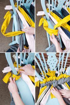 The House That Lars Built.: DIY Friendship bracelet chair cushion for design*sponge