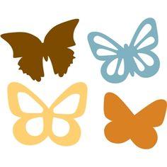 Silueta design obchod - Pohled design # 10043: motýli