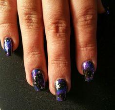 #galaxynails #galaxynailart my newest design success :)