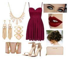 """""""Homecoming option 2"""" by sarah-roseee on Polyvore featuring Elise Ryan, Charlotte Russe, Michael Kors, Rivka Friedman, Monsoon, M&Co and Charlotte Tilbury"""
