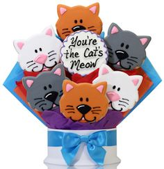 You're the Cats Meow Cookie Bouquet from Gourmet Cookie Bouquets