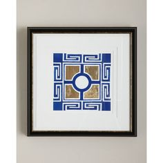 """Cobalt Maze I"" Giclee (1315 QAR) ❤ liked on Polyvore featuring home, home decor, wall art, blue, cobalt blue home decor, giclee wall art, blue home decor, framed wall art and blue wall art"